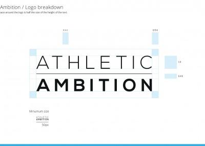 Athletic Ambition - logo construction
