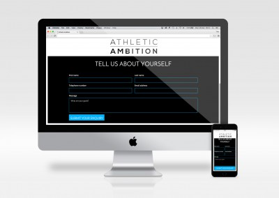 Athletic Ambition - landing page - Sign up form