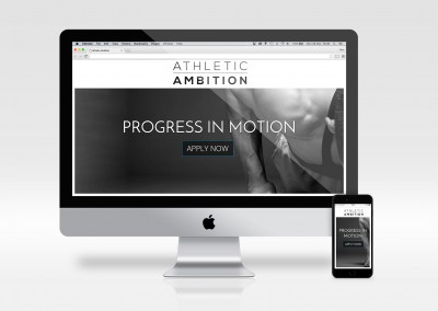 Athletic Ambition - landing page